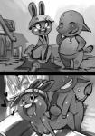 2014 :d <3 animal_crossing anthro barefoot bittenhard blush bonbon_(animal_crossing) breasts buckteeth butt chubby clothed clothing dizzy_(animal_crossing) duo elephant eyelashes eyes_closed female from_behind fur greyscale hair half-dressed happy lagomorph long_ears long_nose male male/female mammal monochrome nintendo nipples nude number open_mouth outside penetration rabbit raised_arm sex shirt short_hair sitting smile teeth tongue video_games   Rating: Explicit  Score: 19  User: WiiFitTrainer  Date: April 05, 2014