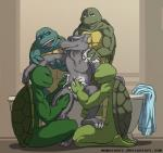 anthro balls bath donatello_(tmnt) father father_and_son group hi_res leonardo_(tmnt) male male/male mammal michelangelo_(tmnt) momorawrr nude open_mouth parent penis raphael_(tmnt) rat reptile rodent scalie semi_incest son splinter teenage_mutant_ninja_turtles turtle water  Rating: Explicit Score: 1 User: MadAres Date: March 22, 2015""