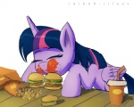 2014 box burger cup drink eating equine eyes_closed female food friendship_is_magic fries hair horn ketchup mammal multicolored_hair my_little_pony purple_hair raikoh-illust simple_background sitting solo straw table twilight_sparkle_(mlp) white_background winged_unicorn wings  Rating: Safe Score: 9 User: 2DUK Date: February 27, 2014
