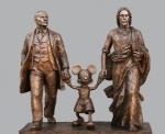 alexander_kosolapov anthro bronze capitalism communism disney grey_background group hand_holding in_soviet_russia jesus_christ male mickey_mouse plain_background politics real religion sculpture statue vladimir_ilich_ulianov_(lenin) what   Rating: Safe  Score: 0  User: lalalalala  Date: April 11, 2010