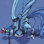 ambiguous_gender ambiguous_penetration articuno ass_up avian ball_gag bdsm bent_over bird blue_background blue_feathers blue_theme bondage bound chained cum drooling fadingsky feathers feral fixed_toy fixed_vibrator gag harness leash legendary_pokémon nintendo orgasm penetration pokémon saliva sex_toy simple_background solo spread_legs spreading tears vibrator video_games  Rating: Explicit Score: 35 User: TheTrueLiamay Date: July 28, 2014