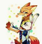 2016 ahiru621 anthro canine disney duo female fox judy_hopps lagomorph male mammal nick_wilde rabbit zootopia  Rating: Safe Score: 2 User: Vallizo Date: April 30, 2016