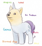 canine cutie_mark dog doge english_text equine fatalfox female feral friendship_is_magic horn hybrid looking_at_viewer mammal meme my_little_pony rarity_(mlp) solo stare text unicorn what_has_science_done  Rating: Safe Score: 19 User: slyroon Date: October 22, 2015