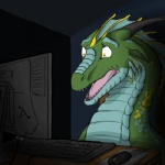 2012 ambiguous_gender animated auspher79 blinking blue_scales computer computer_mouse desk dragon evalion feral green_scales i_can't_fap_to_this inside keyboard_(computer) light lol_comments low_res monitor multicolored_scales nixi open_mouth portrait reaction_image reptile scales scalie shadow sharp_teeth shiny shocked sitting solo stare teeth tongue western_dragon wide_eyed wire yellow_eyes yellow_scales