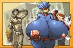 anthro avian big_breasts bird breasts busty_bird clothed clothing digital_media_(artwork) duck female huge_breasts jaeh male nipples non-mammal_breasts skimpy   Rating: Questionable  Score: 8  User: ErosThanatos  Date: October 05, 2013