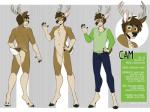 2018 2_toes 5_fingers anthro antlers belt biped bottomwear cam_hartley capreoline cervid chest_tuft clothed clothing digital_drawing_(artwork) digital_media_(artwork) english_text featureless_crotch fingers full-length_portrait fully_clothed fur hair hooves horn jeans looking_at_viewer male mammal model_sheet nude off/on pants portrait salkitten shirt simple_background smile solo standing text toes topwear tuft white_fur white-tailed_deerRating: SafeScore: 1User: AlricKyznetsovDate: August 17, 2019