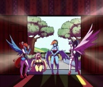 2016 anthro anthrofied balls blush breasts cleavage clothed clothing da3rd dickgirl dress equine female fluttershy_(mlp) friendship_is_magic group horn intersex kneeling maid_uniform mammal my_little_pony pegasus penis rainbow_dash_(mlp) ribbons sureibu twilight_sparkle_(mlp) uniform wing_boner winged_unicorn wings  Rating: Explicit Score: 6 User: 2DUK Date: May 04, 2016
