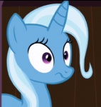 :s big_eyes blue_fur blue_hair cannot_unsee equine eyelashes female feral friendship_is_magic fur hair horn long_hair low_res mammal my_little_pony o_o purple_eyes reaction_image screencap shocked short_hair solo trixie_(mlp) unicorn unknown_artist wood