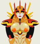 breasts female lips looking_at_viewer machine mistress_of_flame not_furry orange_eyes orange_nipples red_lips robot solo transformers  Rating: Questionable Score: 1 User: Juni221 Date: July 31, 2015