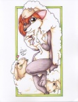 2002 absurd_res anthro breasts canine caprine disguise female fox hi_res looking_at_viewer mammal michele_light nipples nude pinup pose sheep shep solo wolf  Rating: Questionable Score: 9 User: ippiki_ookami Date: July 03, 2012