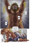 abs anthro biceps bomb_(artist) comic dialogue duo english_text erection feline fellatio fur grin hair japanese_text leopard lion lying male male/male mammal muscular nude oral panther pecs penis sex text toned  Rating: Explicit Score: 7 User: Vinea Date: October 17, 2014