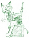 animal_humanoid blush cat cat_humanoid feline female fish humanoid imagination mammal marine melee_weapon solo sword weapon  Rating: Safe Score: 1 User: Kitsu~ Date: December 10, 2009