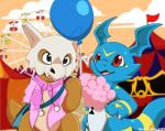 2017 carnival chibi claws cubone cute detailed_background digimon dragon fan_character feral giramon guilmon hi_res hybrid lizard male nintendo niu-ka open_mouth pokémon red_eyes reptile scalie smile sven_(character) sven_the_giramon tongue toto_(character) totodice1 vee4eva veemon video_games vmon