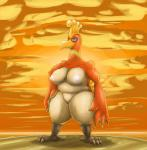 anthro anthrofied avian big_breasts big_thighs breasts chubby cloud female ho-oh legendary_pokémon nintendo nipples non-mammal_breasts nude ole outside pokémon red_eyes sky solo standing sunset talons video_games warm_colors  Rating: Questionable Score: 3 User: Neitsuke Date: January 09, 2014
