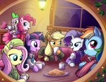 applejack_(mlp) beverage blonde_hair blue_eyes blue_fur clothing cookie cowboy_hat cub cup cute dragon earth_pony equine female feral fluttershy_(mlp) food friendship_is_magic fur green_eyes group hair hat horn horse jacket long_hair madmax mammal multicolored_hair my_little_pony pegasus pink_eyes pink_fur pink_hair pinkie_pie_(mlp) pony purple_eyes purple_hair rainbow_dash_(mlp) rainbow_hair rarity_(mlp) scalie scarf short_hair smile spike_(mlp) sweater table tea teapot twilight_sparkle_(mlp) unicorn window wings young  Rating: Safe Score: 11 User: Miss_Fluttershy Date: September 20, 2011