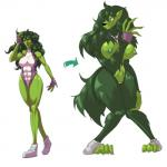 anthro big_breasts breasts canine clothing erect_nipples female green_eyes green_hair hair hi_res lemonfont leotard mammal marvel muscular muscular_female nipple_bulge nipples paws pussy she-hulk simple_background solo torn_clothing transformation white_background wolf  Rating: Explicit Score: 9 User: Finchmaster Date: August 05, 2014