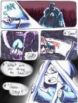 aftertale animated_skeleton blood bone clothed clothing comic dialogue english_text geno_sans_(aftertale)_(character) human loverofpiggies male mammal not_furry oh_shit pain protagonist_(undertale) sans_(undertale) scarf shocked skeleton text undead undertale video_games wounded  Rating: Safe Score: 7 User: Valmar Date: May 02, 2016