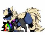 2017 all_fours alternate_color arcanine arcario bent_over blue_fur canine digital_media_(artwork) doggystyle duo eevee fakémon fan_character female feral fluffy fluffy_tail from_behind_position fur hair hi_res hybrid looking_up lucario male male/female mammal multicolored_fur nintendo on_top open_mouth pokémon raven_eevee raveneevee sex simple_background smile sweat video_gamesRating: ExplicitScore: 5User: RavenEeveeDate: August 18, 2017