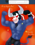 abs anthro bane batman_(series) blackbewhite2k7 bovine bulge clothed clothing crossover facial_piercing friendship_is_magic half-dressed iron_will_(mlp) male mammal mask minotaur my_little_pony nose_piercing nose_ring parody piercing pose red_eyes septum_piercing smile solo standing topless underwear  Rating: Questionable Score: 1 User: Blackbewhite2k7 Date: June 01, 2013
