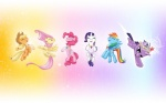 abstract_background applejack_(mlp) blonde_hair blue_fur cowboy_hat cutie_mark digital_media_(artwork) elements_of_harmony equine eyes_closed female feral fluttershy_(mlp) friendship_is_magic fur group hair hat horn horse levitation magic mammal multicolored_hair my_little_pony mysticalpha necklace open_mouth orange_fur pegasus pink_fur pink_hair pinkie_pie_(mlp) pony purple_eyes purple_fur purple_hair rainbow_dash_(mlp) rainbow_hair rarity_(mlp) smile tiara twilight_sparkle_(mlp) two_tone_hair unicorn white_fur wings yellow_fur   Rating: Safe  Score: 8  User: Granberia  Date: October 09, 2012
