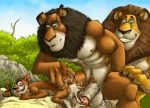 abs after_sex alex_the_lion anthro balls biceps big_muscles big_penis black_fur buck_(ice_age) crossover dreamworks erection feline fur furryrevolution group ice_age incest lion madagascar male male/male mammal muscles nude pecs penis sex sketch zuba   Rating: Explicit  Score: 17  User: Axero  Date: July 11, 2013