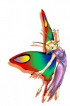 anthro arthropod butterfly butterfly_wings clothing dress elf evening_gown female humanoid insect insectoid leap pigtails rainbow solo unknown_artist wings  Rating: Questionable Score: 1 User: The Dog In Your Guitar Date: August 04, 2007