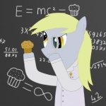 blonde_hair chalkboard derp derpy_hooves_(mlp) equine female friendship_is_magic hair horse lab_coat magnifying_glass mammal my_little_pony pony science solo vareoth  Rating: Safe Score: 0 User: Rina Date: August 03, 2011""