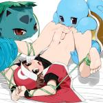 agemono ambiguous_gender balls blue_skin bound group group_sex hat human interspecies ivysaur licking male mammal nintendo penis pokémon poképhilia red_(pokémon) sex shell squirtle threesome tongue tongue_out video_games  Rating: Explicit Score: 28 User: Pokelova Date: September 19, 2014
