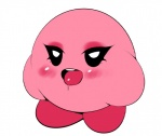 blush drooling female kirby kirby_(series) makeup nintendo not_furry open_mouth plantpenetrator saliva solo tongue video_games waddling_head why