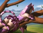 alice_in_wonderland animal_humanoid anime butt cat cat_humanoid cheshire_cat choppadave clothing feline female fur hair humanoid long_hair lying mammal mountain on_front outside skirt solo tree  Rating: Questionable Score: 22 User: SexyCheshireCat Date: October 23, 2015