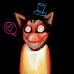 <3 ambiguous_gender black_background canine creepypasta dog flesh grin hat husky looking_at_viewer mammal meme red_eyes simple_background smile smile.dog solo stare teeth  Rating: Questionable Score: 1 User: lalalalala Date: April 20, 2010