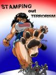 ak-47 ambiguous_gender anthro big_breasts black_hair breasts brown_fur claws clothing cougar crop_top cutoffs denim_shorts english_text feline female foot_crush fur giant green_eyes hair human jeans ken_sample larger_anthro larger_female macro male mammal paws sharp_claws shirt shorts simple_background size_difference snarling stars_and_stripes stomping terrorism text toe_claws under_boob united_states_of_america wide_hips   Rating: Safe  Score: 5  User: Munkelzahn  Date: October 03, 2013