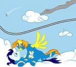 2011 avian blue_hair cloud cloudscape comic equine eyewear female feral friendship_is_magic gilda_(mlp) goggles green_eyes gryphon hair lying male mammal my_little_pony on_back open_mouth orange_eyes orange_hair outside pegasus simple_background skinsuit sky soarin_(mlp) spitfire_(mlp) taharon wing_boner wings wonderbolts_(mlp)   Rating: Safe  Score: 3  User: 133710|2|)  Date: September 02, 2011