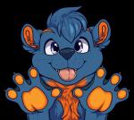 2016 4_fingers alpha_channel anthro biped blue_fur blue_hair blue_nose bust_portrait claws cute digital_media_(artwork) front_view fur hair looking_at_viewer male mammal multicolored_fur mustelid muzz orange_claws orange_fur otter pink_tongue portrait purple_eyes short_hair signature simple_background smile solo tongue tongue_out transparent_background two_tone_fur webbed_hands whiskers zaffre_(zaffretehfloof)Rating: SafeScore: 0User: Cash_BanoocaDate: May 23, 2017