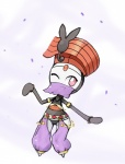bracelet female humanoid jewelry legendary_pokémon looking_at_viewer meloetta nintendo one_eye_closed pink_eyes pokémon solo veil video_games  Rating: Safe Score: 3 User: Juni221 Date: August 09, 2014