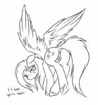 2015 anus black_and_white butt cutie_mark english_text equine female feral fluttershy_(mlp) friendship_is_magic hair looking_back mammal monochrome my_little_pony pegasus pussy sad simple_background sketch solo strachinthesack text white_background wings  Rating: Explicit Score: 8 User: Egekilde Date: September 12, 2015