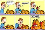 blood bone brown_hair cat comic death dialogue duo english_text feline garfield garfield_(series) gore guts hair human male mammal pain pandyland suicide text what  Rating: Questionable Score: 9 User: Peekaboo Date: May 17, 2014
