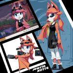 2017 anthro bat bat_wings blue_eyes breasts camera eyewear fangs female freedom_planet freedom_planet_2 fur goshaag hair japanese_text mammal maria_notte membranous_wings red_fur red_hair solo sunglasses text video_games wingsRating: SafeScore: 4User: GooglipodDate: March 30, 2017