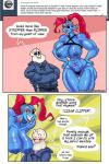 animated_skeleton anthro areola big_breasts bone breasts dialogue duo english_text erect_nipples female fish hi_res imminent_sex male marine muscular muscular_female nipples sans_(undertale) skeleton sweat text undead undertale undyne vaskurknsfw video_games