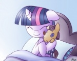 bed cuddling cute equine eyes_closed female feral friendship_is_magic hair horn horse multi-colored_hair my_little_pony pony smartypants_(mlp) solar-slash twilight_sparkle_(mlp) unicorn   Rating: Safe  Score: 6  User: 2DUK  Date: February 28, 2012