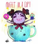 2015 anthro arachnid arthropod black_eyes black_hair chibi cupcake cute doughnut english_text fangs female feral food grey_skin group hair hair_bow muffet multi_limb multiple_eyes noseless open_mouth smile solo_focus sparkles spider tanyan-art tea_cup text undertale video_games  Rating: Safe Score: 3 User: ROTHY Date: October 04, 2015
