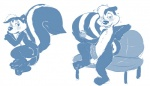 anthro blue_and_white butt cum cum_on_butt digital_drawing_(artwork) digital_media_(artwork) drunk looney_tunes male mammal monochrome penis pepé_le_pew plain_background seth-iova sketch skunk solo warner_brothers white_background   Rating: Explicit  Score: 7  User: baracudaboy  Date: July 17, 2011