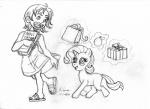 "book child crossover cub duo equine female friendship_is_magic horn irie-mangastudios mammal my_little_pony nami one_piece pencil_(artwork) rarity_(mlp) shopping_bag traditional_media_(artwork) unicorn young  Rating: Safe Score: 1 User: IrieMangaStudios Date: January 02, 2015"""