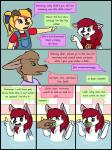 anthro canine clothing comic cub digital_media_(artwork) dog english_text hair hi_res husky kammypup kammypup_(artist) kangaroo mammal marsupial red_hair speech_bubble text young  Rating: Safe Score: -1 User: someWolfHere Date: May 01, 2016