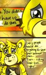 animatronic bear blue_eyes bow_tie comic crying duo five_nights_at_freddy's five_nights_at_freddy's_3 golden_freddy_(fnaf) lagomorph machine male mammal mechanical oil rabbit riznben_(artist) robot springtrap_(fnaf) tears video_games yellow_eyes  Rating: Safe Score: 0 User: Vallizo Date: June 29, 2015""