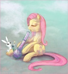 2014 abstract_background angel_(mlp) bong cosmicunicorn cutie_mark drugs duo equine eyes_closed female feral fire fluttershy_(mlp) friendship_is_magic fur hair lagomorph mammal my_little_pony pegasus pink_hair rabbit sitting smoke white_fur wings yellow_fur  Rating: Safe Score: 5 User: ConsciousDonkey Date: February 12, 2016