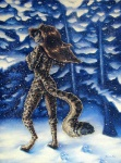 anthro brown_hair cat feline female forest hair leopard long_hair mammal outside scenery snow snowing solo spots taurin_fox tree wood  Rating: Questionable Score: 9 User: Ormolus Date: August 18, 2011