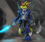 armor blue_eyes crystal digimon fur gem navel power_armor renamon s-nina weapon   Rating: Safe  Score: 2  User: Arkham_Horror  Date: April 03, 2014