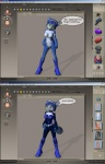 3d anthro belt blue_hair bodysuit boots breasts canine clothed clothing daymond42 female fox hair krystal mammal nintendo nipples nude short_hair skinsuit solo star_fox video_games   Rating: Questionable  Score: 3  User: nekojita  Date: October 04, 2011