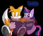 absurd_res blush book canine duo equine female fox friendship_is_magic hi_res horn horse magic male mammal miles_prower my_little_pony pony sega senshion sitting sonic_(series) twilight_sparkle_(mlp) unicorn   Rating: Safe  Score: 3  User: slyroon  Date: March 22, 2015